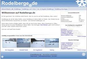 Rodelberge.de Homepage